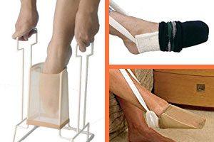 Ayuda para poner medias y calcetines