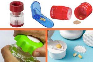 para triturar o cortar en 2 o en 4 pildoras, pastillas, vitaminas